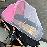 Vibola® Baby Stroller Mosquito Net, Baby Portable Foldable Netting Full Insect Cover Carriage (Pink)
