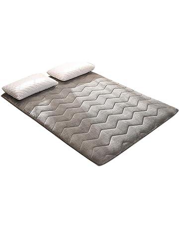 Colchón de Tatami de Franela Cálido Cojín de colchón Transpirable Suave Que Duerme para el hogar