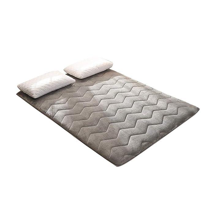 Colchón de Tatami de Franela Cálido Cojín de colchón Transpirable Suave Que Duerme para el hogar Oficina de Dormitorio para Estudiantes: Amazon.es: Hogar