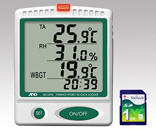 エーアンドデイ1-2400-01デジタル温湿度SDデータロガー B07BD2WFF5