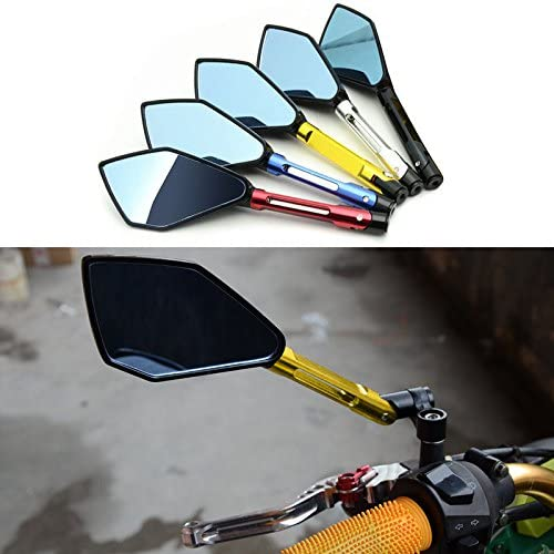 Symboat 1/par de retrovisores para moto Pentagon Suzuki Kawasaki Yamaha manillar lado espejo para Honda
