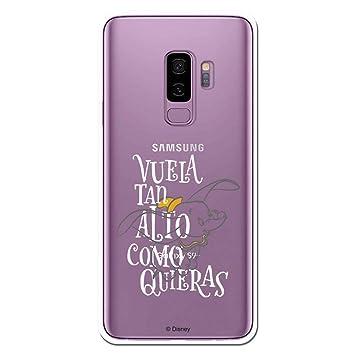 Carcasa Oficial Disney Dumbo, Vuela Tan Alto como Puedas para Samsung Galaxy S9 Plus - La Casa de Las Carcasas