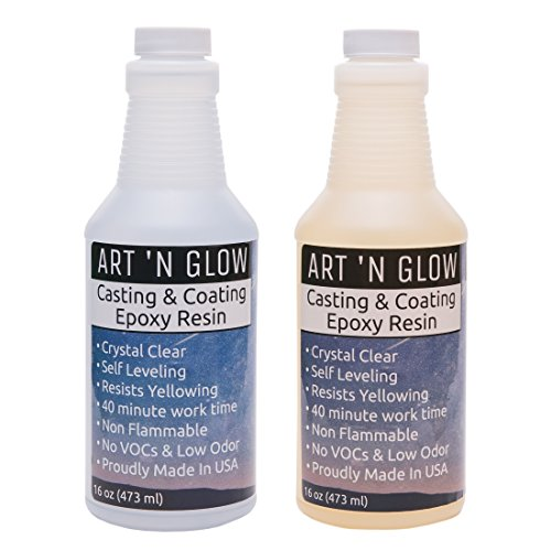 Clear Casting And Coating Epoxy Resin - 32 Ounce Kit Crystal Clear Glaze
