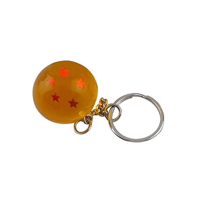 TOYMYTOY 2.7cm 7 Dragon Ball 5 Stars Ball Key Ring (Golden ...