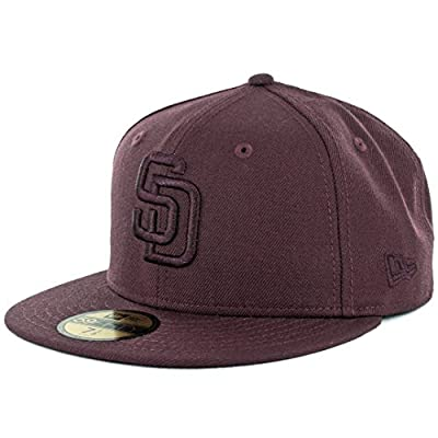 New Era 59Fifty San Diego Padres Tonal Fitted Hat (Maroon Red) Cap