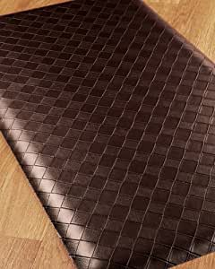 Fiore Anti Fatigue Mat - 20x36 Brown, Reduces discomfort on back, feet and joints. Durable and stain resistant.