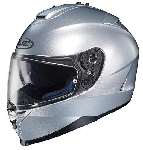 HJC IS-17 - Casco integral para motocicleta, Plateado, XS