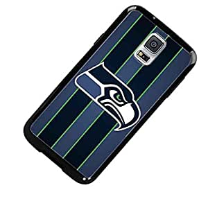 Seattle Seahawks with Stripes Custom Shockproof Case By S and S Accessories(TM) for Samsung Galaxy S5 Active