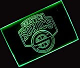 NBA Seattle Super Sonics Team Logo with (16 kinds of Colors flashing mode+remote control) Neon Light Sign