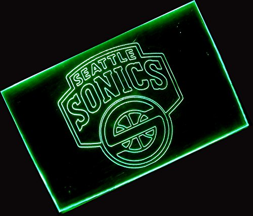 NBA Seattle Super Sonics Team Logo with (16 kinds of Colors flashing mode+remote control) Neon Light Sign by scopewise co