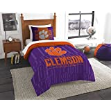 NCAA Clemson Tigers NCAA Twin Comforter & Sham, Orange, Twin Size by Northwest