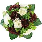 Burgundy-and-Ivory-Silk-Rose-Nosegay-Silk-Bridal-Wedding-Bouquet