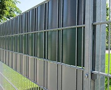Versus paneles protectores/Valla embellecedor de H de PVC blanco (y similar. RAL 9010) - 5 Unidades: Amazon.es: Jardín