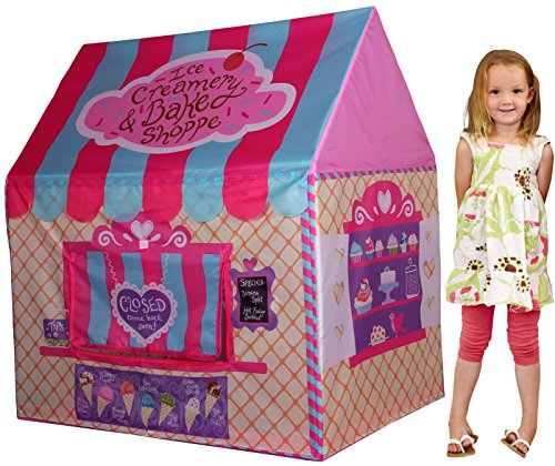 Kids Play Tent Children Playhouse - Toddler Tent Girl Pop Up Model Ice-Cream Shop Pink Foldable Portable by K-F Decorations (Toddler Girls Play Tent)