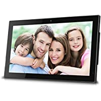 Sungale 14 Inch WiFi Cloud Digital Photo Frame with Front Camera, Remote Control, Free Cloud Storage, High-Resolution 1366x768 LED Display (Black)