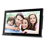 Sungale WiFi Cloud Digital Photo Frame with Front Camera, Remote Control, Free Cloud Storage, High-Resolution 1366x768 LED Display Black (19 inch))