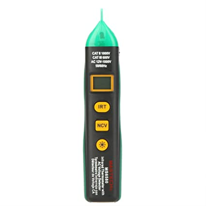 Non-contact Infrared IR Thermometer Tempereture Sensor Meter w/AC Voltage Detector & NCV Test Mastech MS6580 : Everything Else