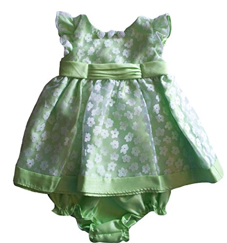 Youngland Green - Youngland Baby Girls 2pc Green White Floral Print Dress, 3/6 Months