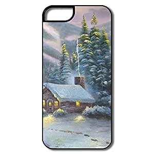 Designed Cover Particular Winter House Painting For IPhone 5/5s