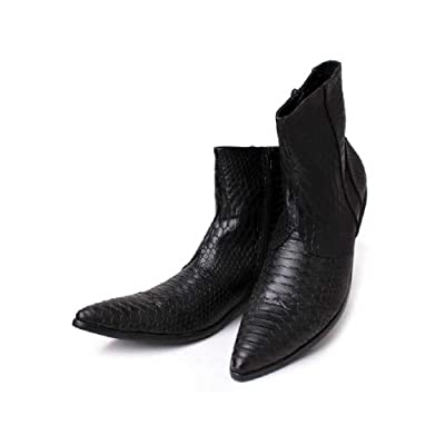 2 Color US Size 5-12 New Alligator Print Leather Zip Ankle Boots Mens Shoes