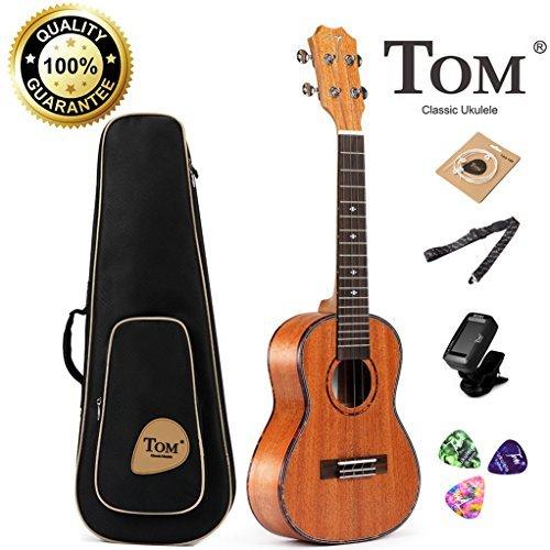 Baritone Ukulele,Concert Ukulele Bundle 23 Inch Professional Tom Ukulele Starter Small Guitar Beginner African Mahogany