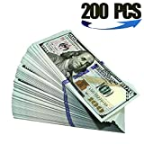 COPY MONEY PROP MONEY-Double-sided printing, paper stiffness, heavy. Like the real dollar, feel similar! One package contains 200 pieces of toy banknotes. 200 x $100 Prop Money Dollars New Style 10K Stack  Give your films the authentic look with this...