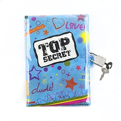 Amazon.com: parte superior Secret Azul Niñas Diario con ...