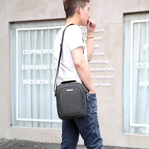Outreo Bolsos de Casual Bolso Bandolera Sport Bolsas de Viaje Hombre Bolsa Escolares Bolso Vintage Messenger Bag para Ocio Deporte Negro