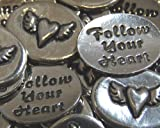 Set of 10 Heart Wing Follow Your Heart Inspiration Coins
