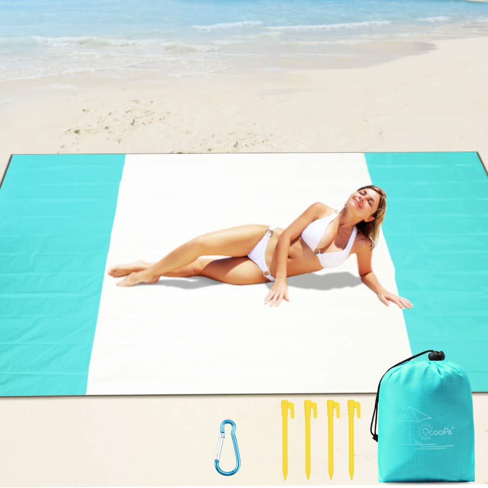 Soft Pocket Picnic Blanket Machine Washable Waterproof Outdoor Family Mat for Beach OCOOPA Sandfree Beach Blanket 10X 9 Extra Large Camping Hiking Music Festival