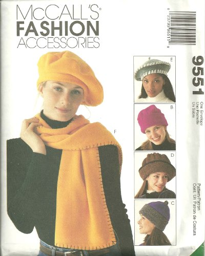 Hats And Scarves McCall's Fashion Accessories Sewing Pattern - Accessories Fashion Mccalls