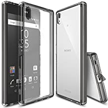 Xperia Z5 Premium Case, Ringke FUSION [Smoke Black] Shock Absorption TPU Bumper Drop Protection [FREE Screen Protector] Clear Hard Case for Sony Xperia Z5 Premium (Not for Z5 & Z5 Compact)