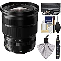Fujifilm 10-24mm f/4.0 XF R OIS Zoom Lens with 3 Hoya UV/CP/ND8 Filters Kit for X-A2, X-E2, X-E2s, X-M1, X-T1, X-T10, X-Pro2 Cameras