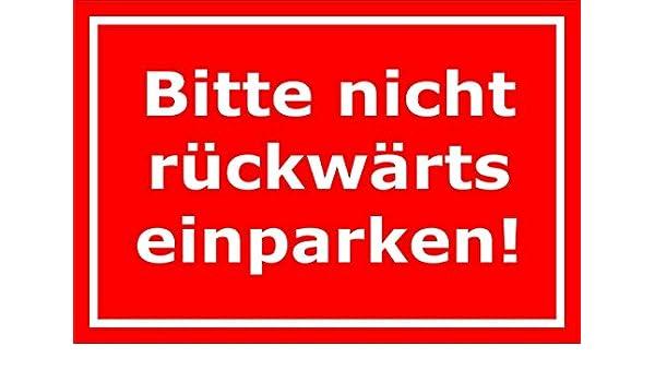 Cartel por favor no hacia atrás aparcar - Aparcamiento ...
