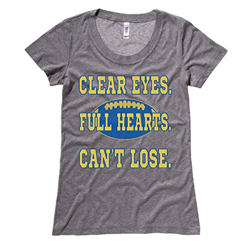 Moment Gear Women's Clear Eyes. Full Hearts. Can't Lose. T Shirt Large Grey