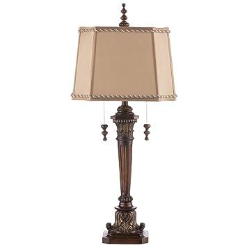 Table Lamp Q QFF Doppelte Lampen Quellharz Tischlampe, E27 Hotel Wohnzimmer