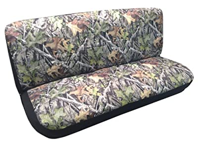 Camouflage Mossy Large Custom Bench Seat Cover for Back or Front Pickups Cars Trucks SUVs