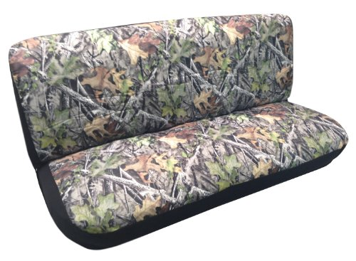 Camouflage Mossy Large Custom Bench Seat Cover for Back or Front Pickups Cars Trucks (Style Car Truck)