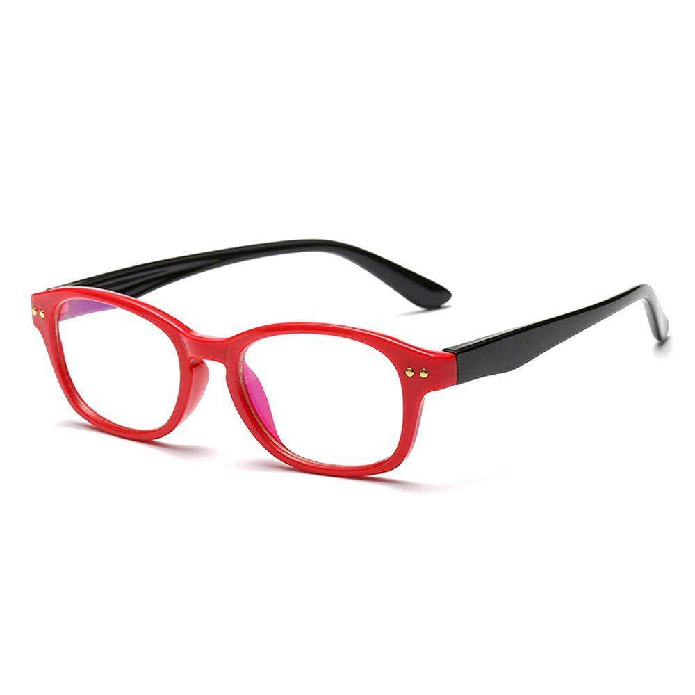 Fantia Kids Eyeglass Frame Children Soft Non-optical Frames Clear Lens (c1)