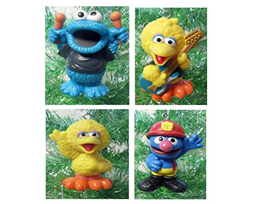 Sesame Street 4 Piece RANDOM Ornament Set Ornaments