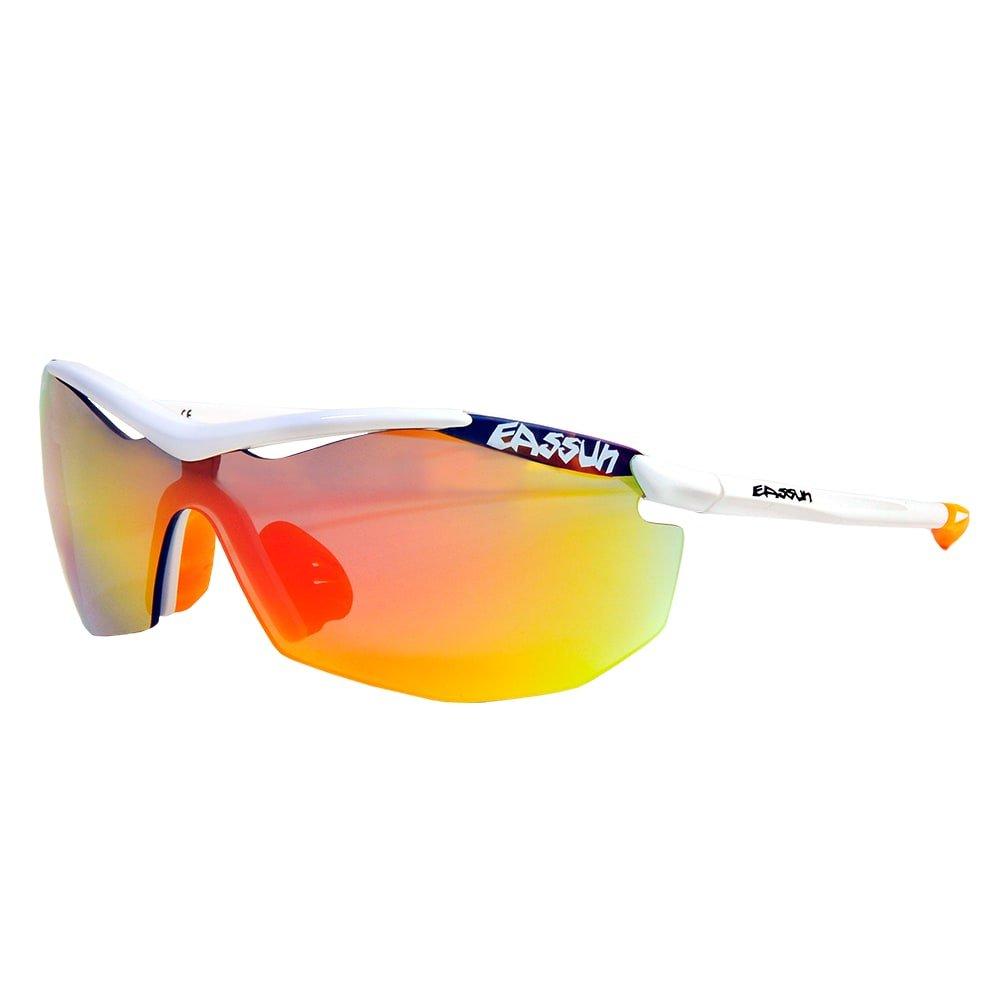 EASSUN La Piuma Sonnenbrille, Gelb/Rot, Unisex