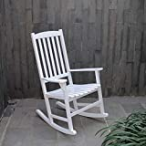 Porch Chairs Cambridge-Casual AMZ-130818W Bentley, Porch Rocker, White
