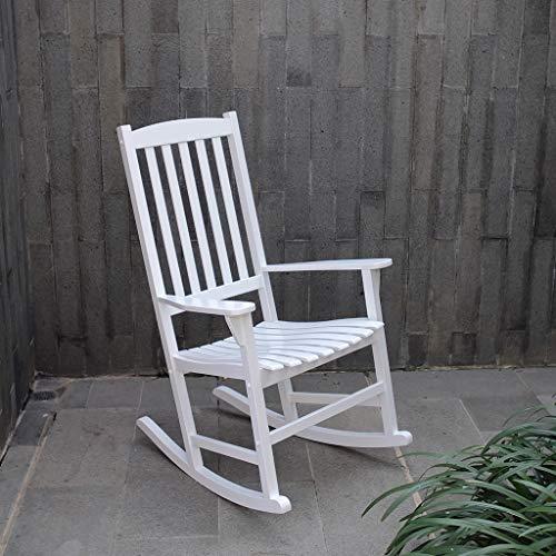 Rocking Wood Patio Chair (Cambridge-Casual AMZ-130818W Bentley, Porch Rocker, White)