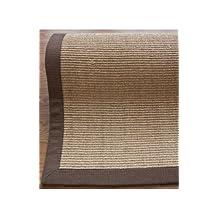 nuLOOM 200ZHSS01E-2608 Natural-Fiber Cotton-Border Sisal Herringbone Runner Rug (2-Feet 6 X 8-Feet)