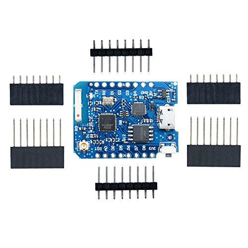 Aideepen WEMOS D1 Mini Pro - 16M Bytes External Antenna Connector ESP8266 WiFi IoT Board