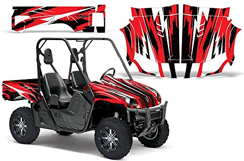 2004-2013 Yamaha Rhino 450/660/700 AMRRACING SXS Graphics Decal Kit:Attack-Red -  AMR Racing, 1511-144200-1310