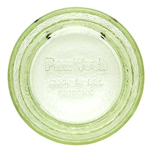 PawNosh Zorra Bowl in PEAR - 100% Recycled Glass Pet Food and Water Bowl