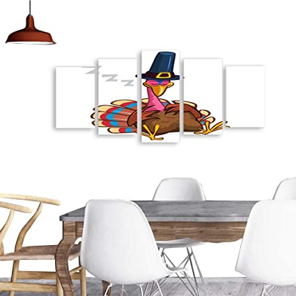 Amazon Com Uhoo 5 Piece Wall Art Painting Printthanksgiving Cartoon