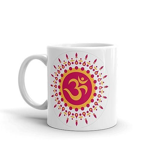 DV Mugs Ltd Taza de té de Alta Calidad con símbolo OM Hindu ...