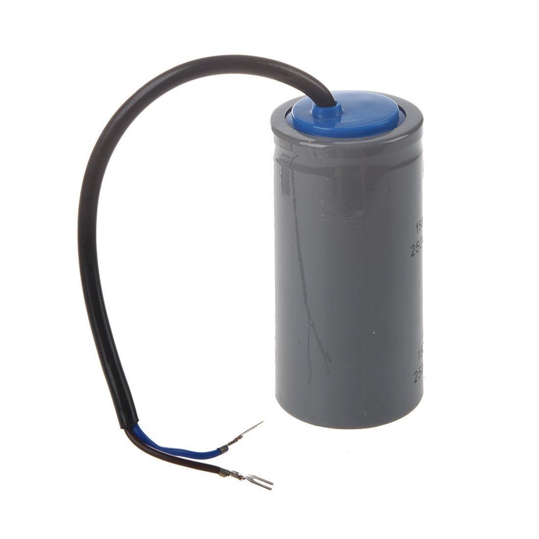 SODIAL(R) CD60 AC 250V 150uF Wired Single Phase Motor Start Capacitor Gray 8638